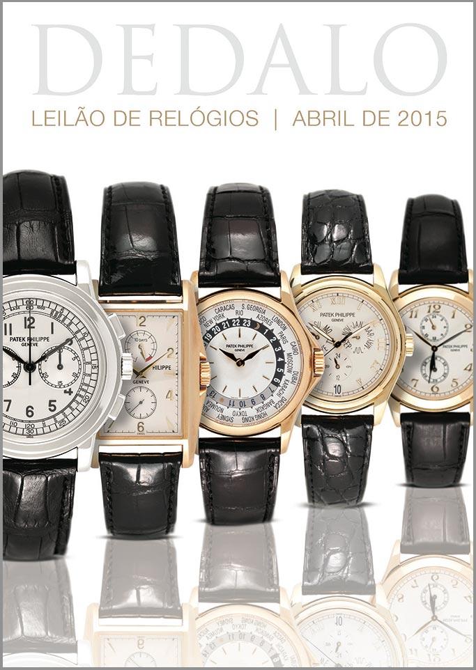 9d6039e49d7 A Dédalo Leilões realizará seu próximo leilão de relógios no dia 1o de Abril