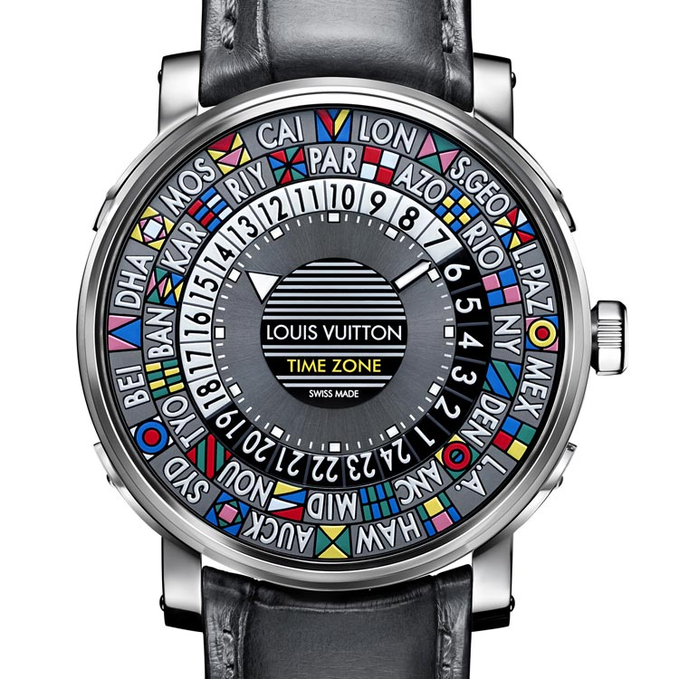ae898b4a22b O Escale Time Zone da Louis Vuitton é um relógio com um design único e  colorido inspirado nos baús da lendária marca Francesa e foi finalista do  GPHG 2015 ...