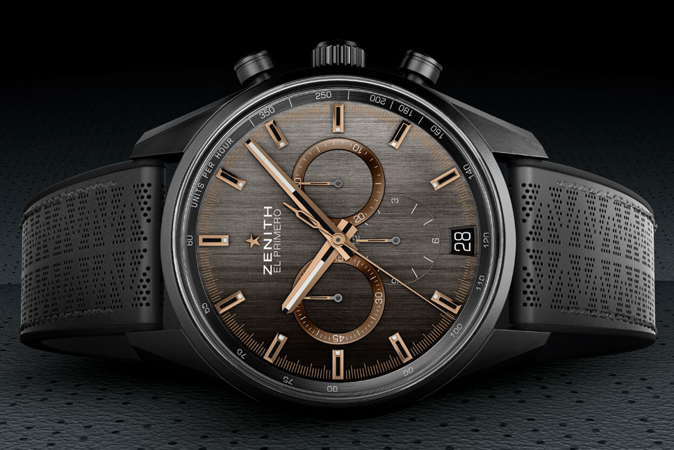 5fbe2e7caaa O relógio dispõe de um elegante mostrador cinza escovado