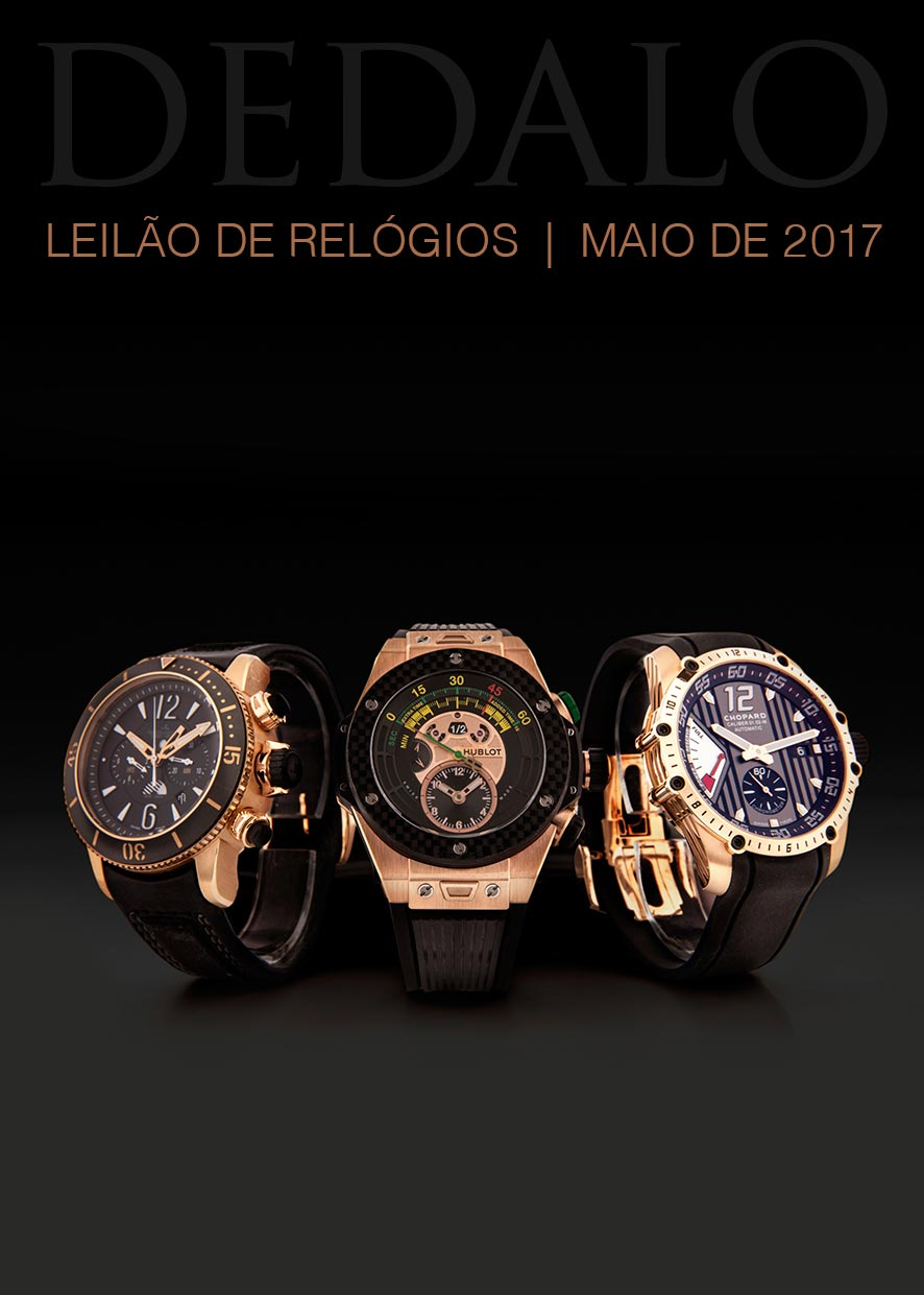 ec3e5116e07 A Dédalo Leilões realizará seu próximo leilão de relógios no dia 17 de Maio.